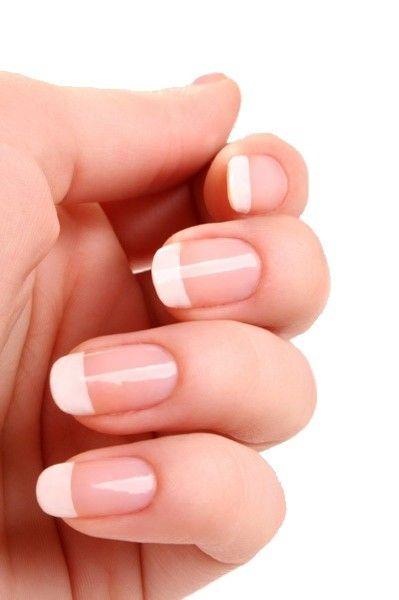 Acrylic white round tip french manicure - my wedding day ...