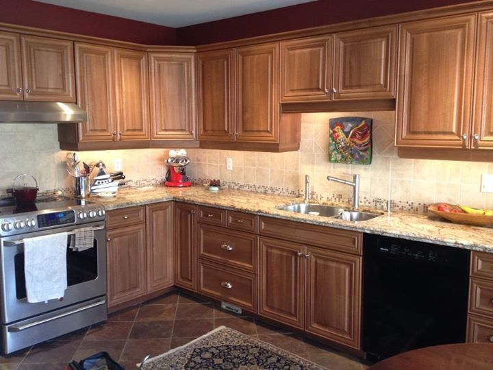 17 best images about cabinet refacing on pinterest for Chocolate pear kitchen cabinets