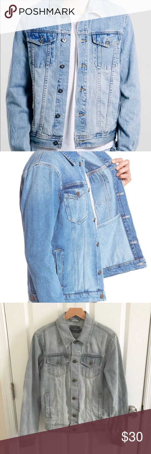Topman Light Bleached Denim Jacket The color on this style varies. Please see my photo because the wash on one being sold is even lighter. Topman Jackets & Coats