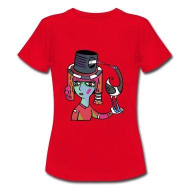Schöne Graphik für interessante Frauen. Frauen deren Markenzeichen ein T-shirt mit einem individuellen Künstler t-shirt Design ist. http://www.spreadshirt.de/user/blickfischer