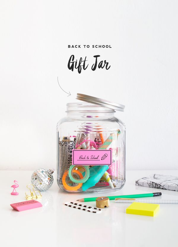 OFFICE SUPPLIES | Back to School Gift Jar DIY | Oh Happy Day!