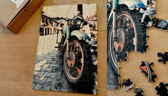 Old Bike - hand cut wooden puzzle