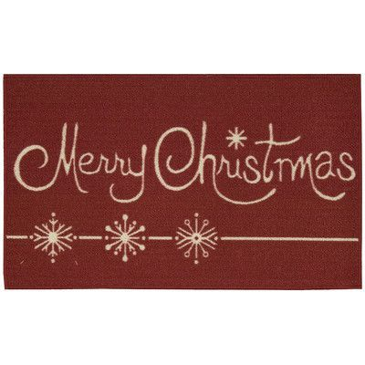 mercury row etruscan merry christmas doormat | products