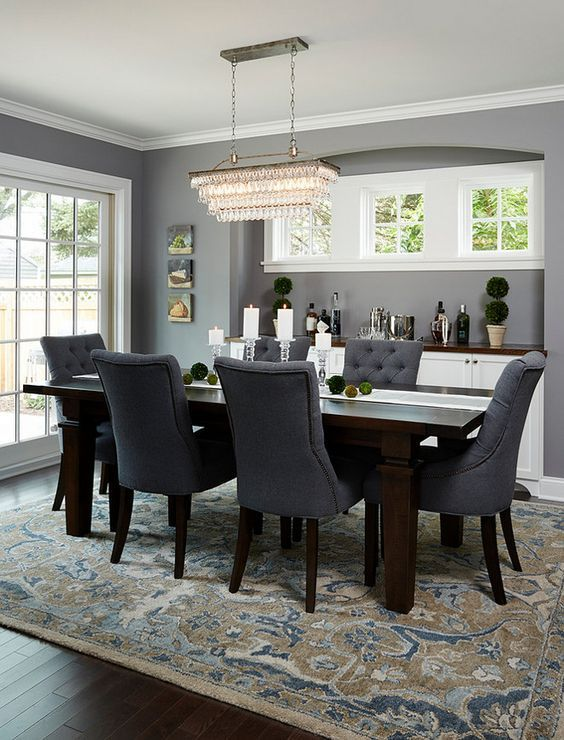 Lovely Dining Room With Dark Wood Flooring And Beautiful Windows. # Diningroom #designideas Homechanneltv