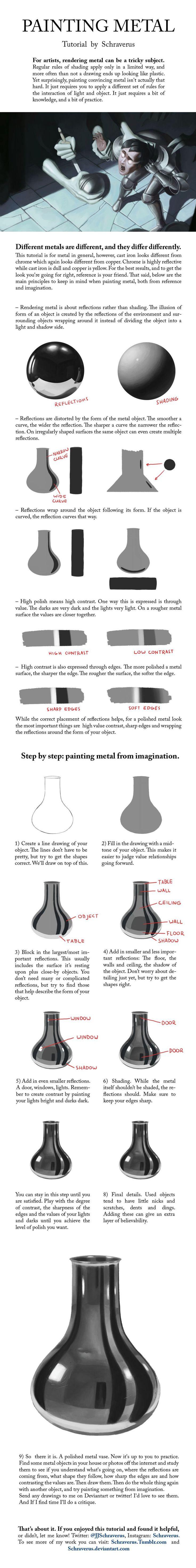 Metal tutorial by Schraverus.deviantart.com on @DeviantArt