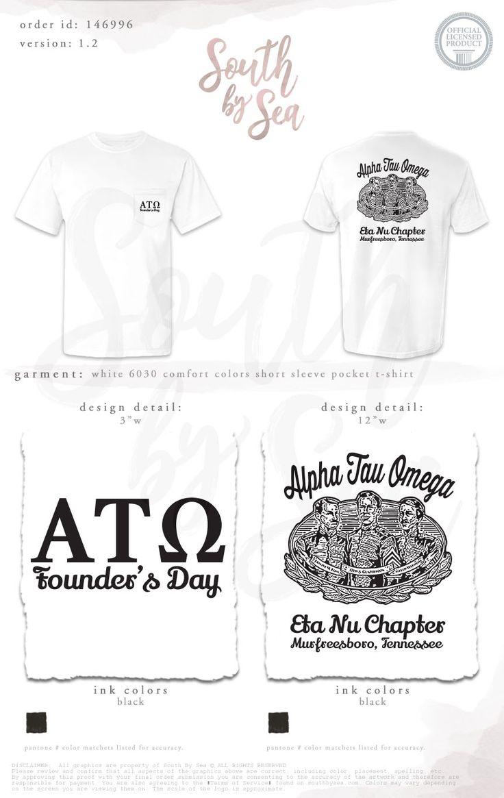 T shirt design jackson ms - Alpha Tau Omega Ato Founder S Day South By Sea Greek Tee Shirts