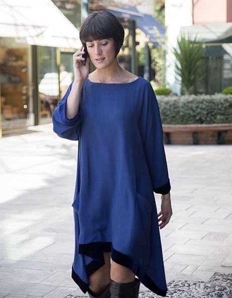 Onesize dress viscose with velvet detail!!! www.cherryschoice.gr