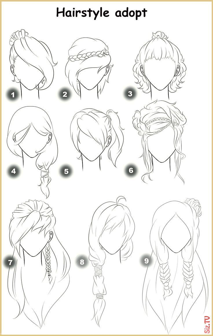 Straight Hair Drawing Hair Products Drawing Hair Products Straight In 2020 Anime Ponytail Anime Hair How To Draw Hair