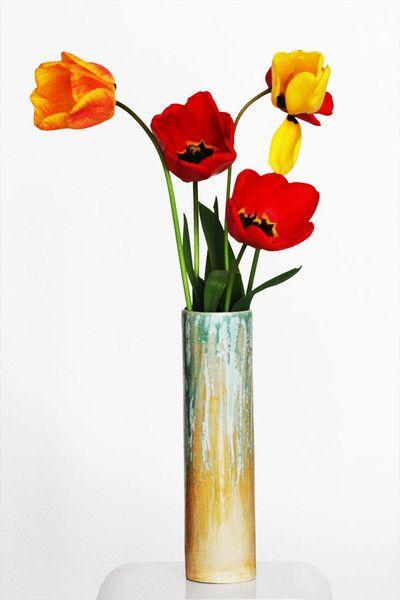 Vasen - Keramikvase, Unikat, Steinzeug... - ein Designerstück von zeit-geister bei DaWanda