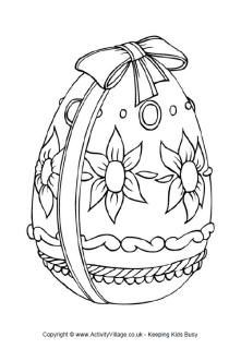 easter egg to color