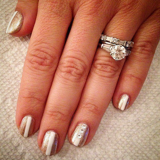 Dimonds Nails : Diamond Nail Art That's Classy Enough to Wear on Your Wedding Day