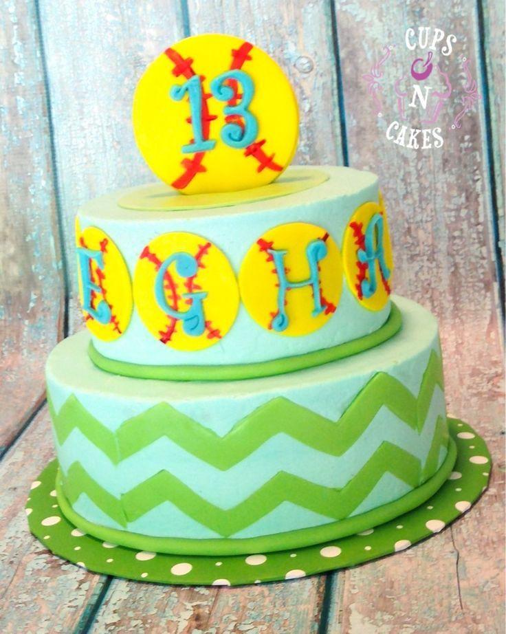 Admirable Softball Birthday Cakes Softball Birthday Cakes Sports Birthday Personalised Birthday Cards Paralily Jamesorg