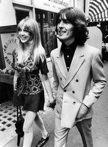 """I don't know if I should care for a man who made life easy; I should want someone who made it interesting.""   Edith Warton (image Pattie Boyd and George Harrison)"