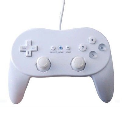 Brand New White Wired Classic Pro Controller Joypad Gamepad for Nintendo Wii.. USD 6.99