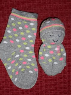 Sweet sock doll. For all those single socks that lost their mate.                                                                                                                                                                                 More