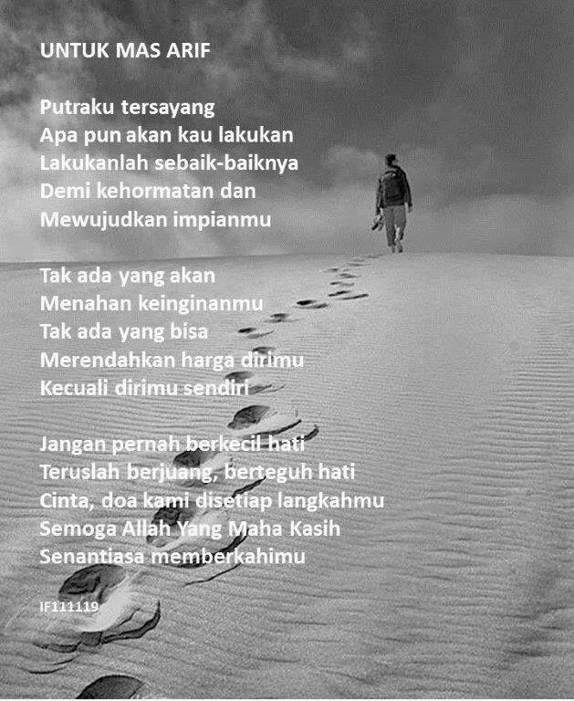 Puisi Untuk Anakku Semata Wayang Harga Diri Puisi Pejuang