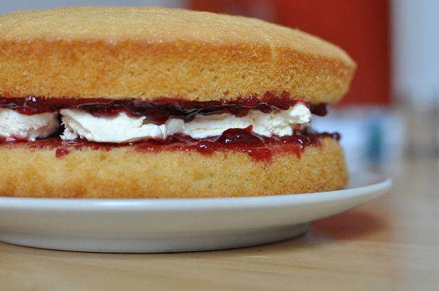 Victoria Sponge Cake Bimby