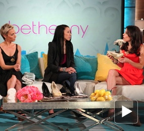 "Nael Coce on the ""Bethenny"" Talk Show.  Bethenny in Your Business: Convertible Heels"