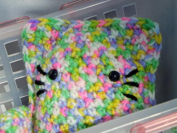 Amigurumi Cat Crochet Cat Floral Print Kawaii Kitteh by CroweShea, $12.00Crochet Cat