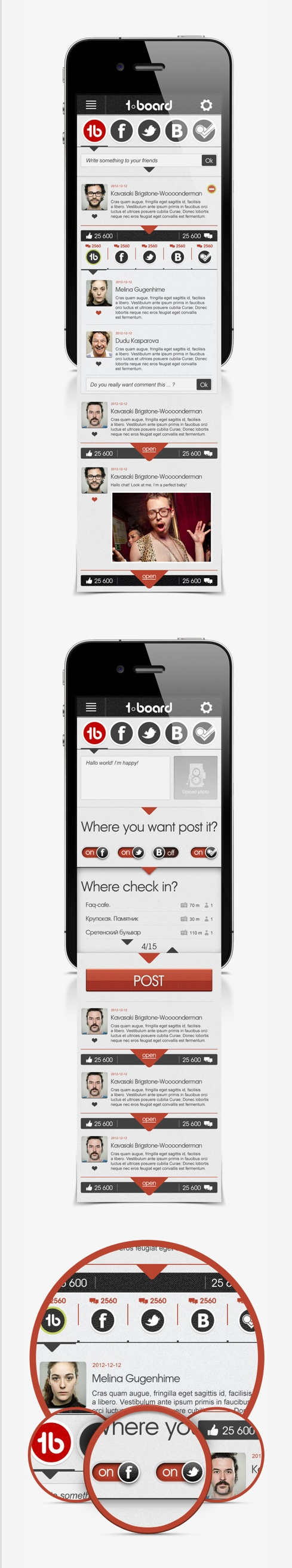 #mobile #ui #behance #digital on #Twitpic