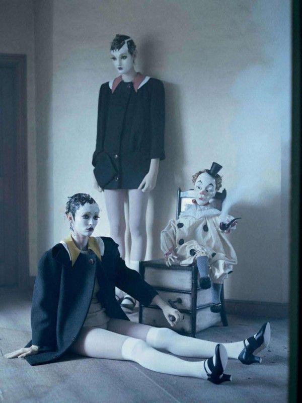 """Mechanical Dolls"" | Models: Audrey Marnay & Kirsi Pyrhonen, Photographer: Tim Walker, Suffolk, UK, Vogue Italia, October 2011"