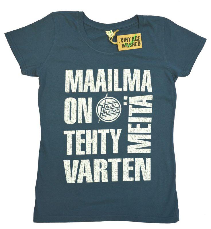 Haloo Helsinki. Sony Music Entertainment. EarthPositive Organic Mens Vintage Wash.