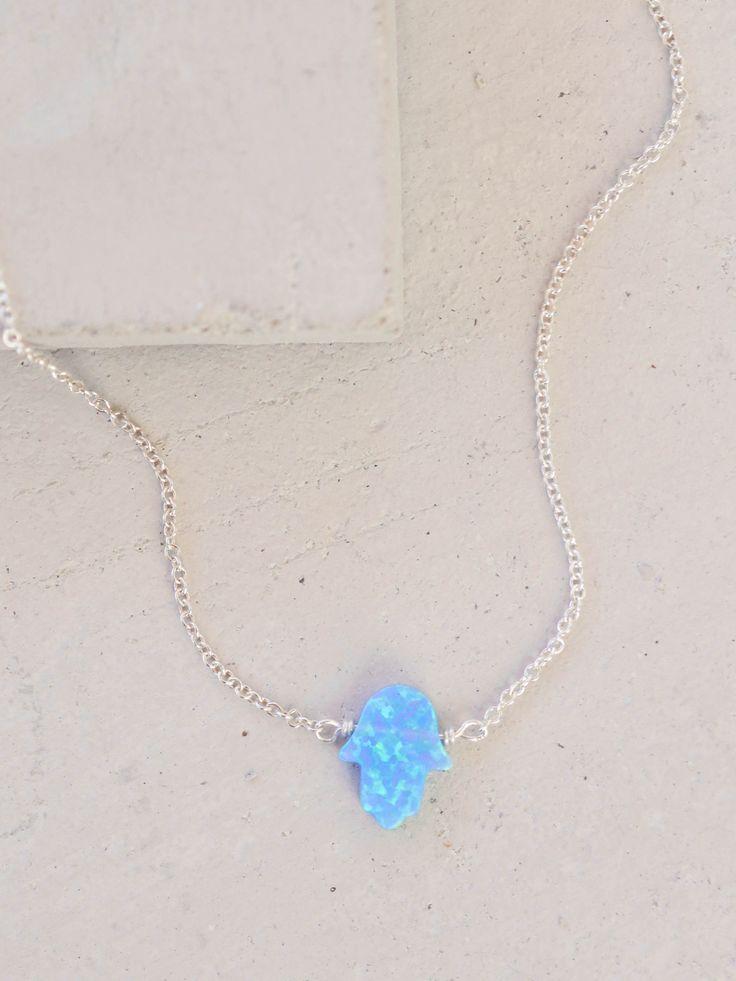 Hamsa Necklace - Silver