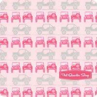 J is for Jeep Sparkle Pink Jeeps Yardage SKU# SC6462-PINK