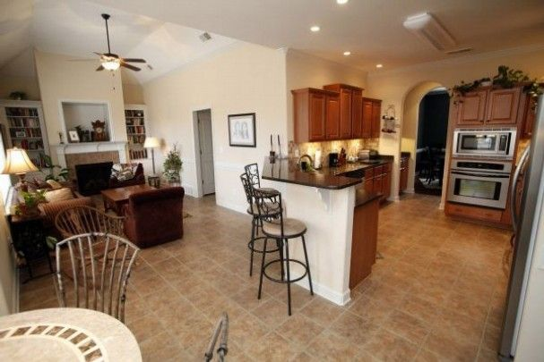 Open Kitchen And Living Room Floor Plans Photo The Open