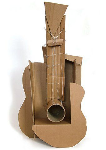Pablo Picasso Guitar - 1912 - MoMA - Mixed Media - http://wanelo.com/p/3985240/welcome-to-meetyoursweet-com