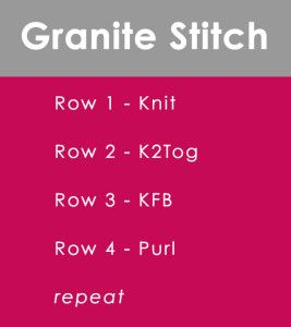 How to Knit the Granite Stitch with Studio Knit