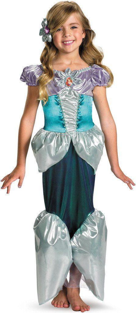 Disney Princess - Ariel Lamé Deluxe Toddler / Child Costume