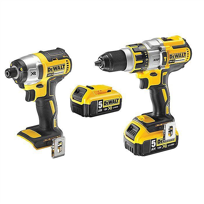 Dewalt DCK255P2 Cordless Hammer Drill & Impact Driver 5.0Ah 18 Volt