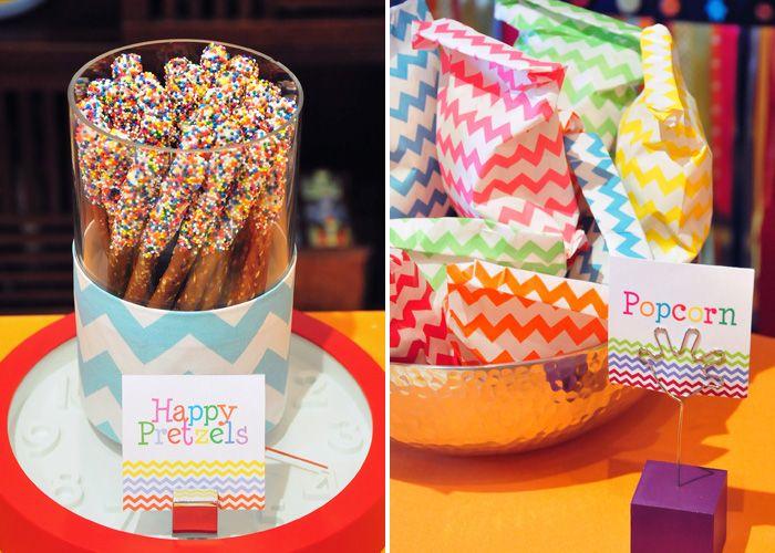Um dos meus temas preferidos para festas infantis é Arco-Íris. Acho lindo…