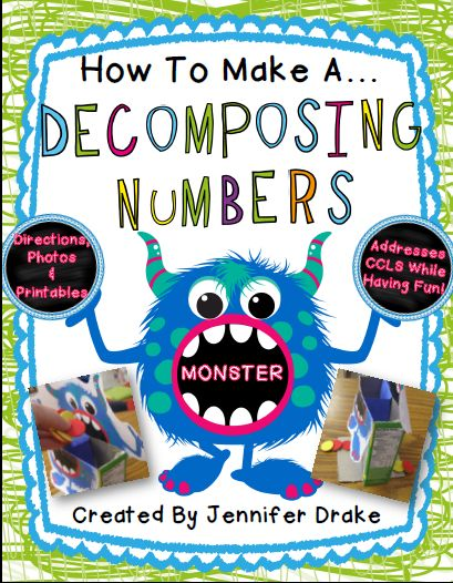 Hands On Learning with Blogger Buddies. DIY math monster for composing and decomposing numbers.