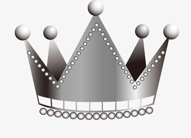 Vector Cartoon Silver Crown Geometric Pattern Background Silver Crown Golden Pattern
