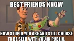 Funny Friendship Memes to Brighten Your Day: Best Friend Meme With Woody and Buzz