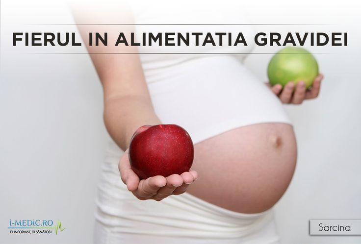Consumul de fier este necesar pe durata sarcinii, deoarece ajuta fatul sa se dezvolte si pentru ca fierul contribuie la producerea de globule rosii, lucru care ajuta la oxigenarea organismului. http://www.i-medic.ro/copilul/sarcina/alimentatia-timpul-sarcinii/fierul-alimentatia-gravidei