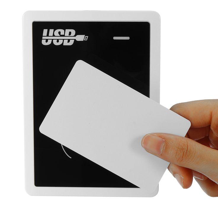 125KHz RFID Hotel cerradura lector de codificador sistema de acceso Inducción lector de tarjeta USB