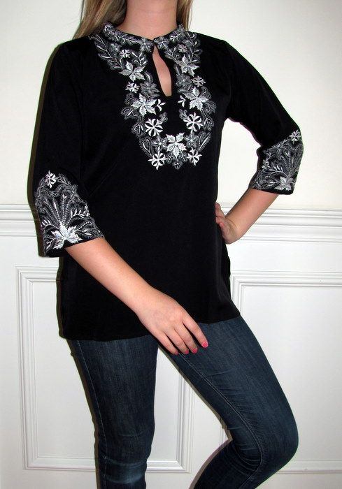 This Ladies Black Indian Tunic Top is divine, a Fashion Trendy Tunic with a touch of class and designer elegance.