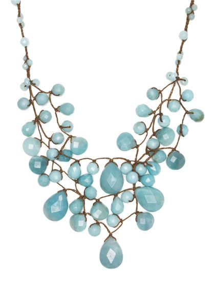 Chan Luu Faceted Multi-Shape Bib Necklace