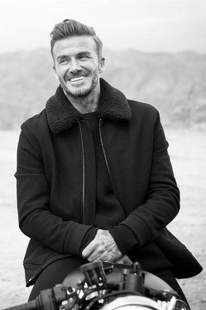 David Beckham wearing H&m Wool-blend Bomber Jacket
