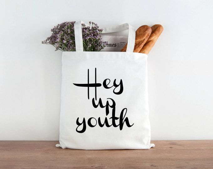 Hey up youth Tote bag, Stoke on Trent Dialect, Environmentally friendly, Staffordshire, English Slang