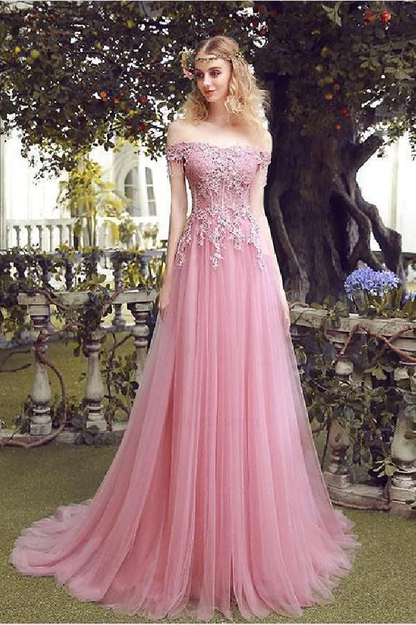 f108a29f88752 Light Pink Prom Dresses