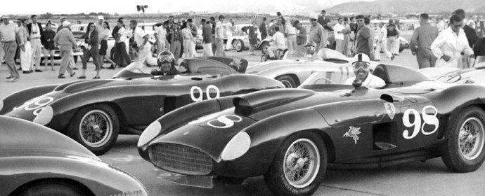 Carroll Shelby, John Edgar Ferrari 410S, Palm Springs, 1956
