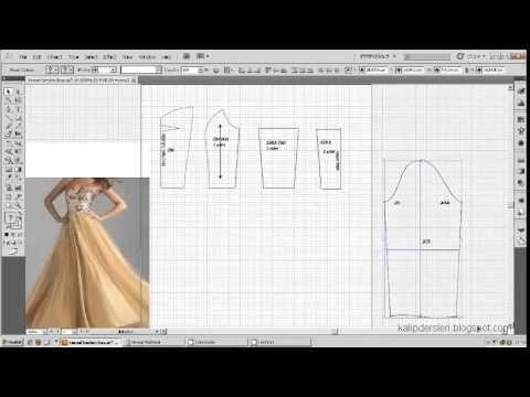 Model uygulamalı elbise kalıbı 15 /The model applied dress pattern 15 - YouTube