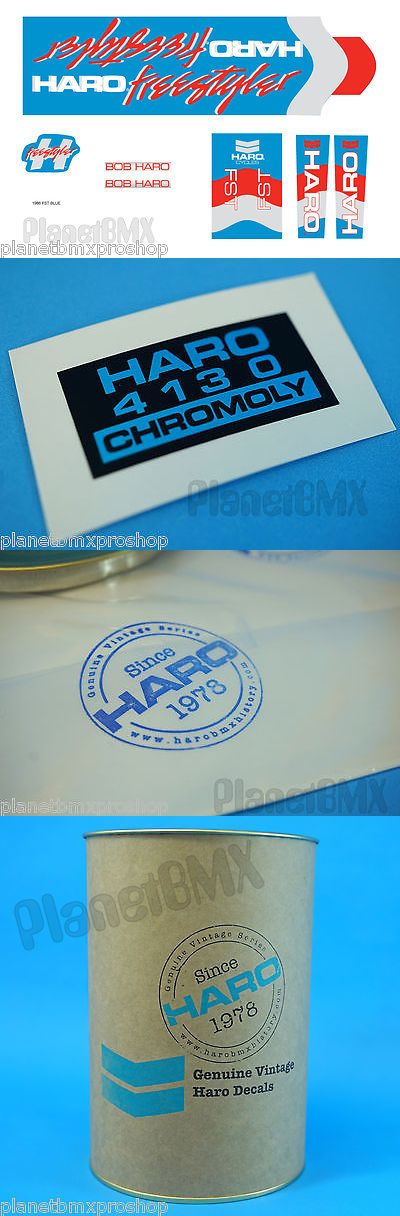 Decals Stickers 106953: 1986 Haro Bmx Freestyler Fst Decal Kit Blue *Genuine Haro Product Re-Issue -> BUY IT NOW ONLY: $57.99 on eBay!