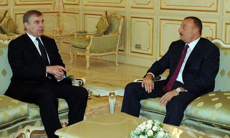 11/1/2012 AZERBAIJAN:  His friendship with Azerbaijan's billionaire dictator Ilham Aliyev was 1 reason the duke stood down from his role as UK trade envoy last year.  By Michael Seamark & Rebecca English www.dailymail.co.uk