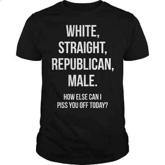 White Straight Republican Male - #qoutes #hoodie womens. MORE INFO => https://www.sunfrog.com/Political/White-Straight-Republican-Male-Black-Guys.html?60505