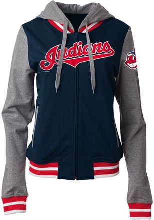 Cleveland Indians Womens Navy Blue Opening Night Full Zip Jacket